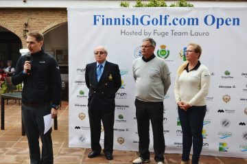 Palkintojenjako FinnishGolf.com Open 2017